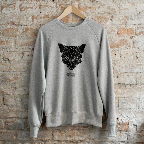 Sweatshirt-THE-FOX-grey-black