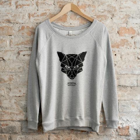 Sweatshirt-Women-THE-FOX-grey-black