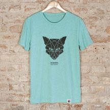 ÄSTHETIKA t-shirt fox mid-green black wall