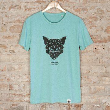 ÄSTHETIKA t-shirt fox mid-green black wall