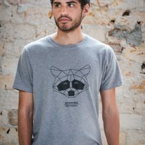 ÄSTHETIKA T-Shirt - THE RACCOON grey/black front