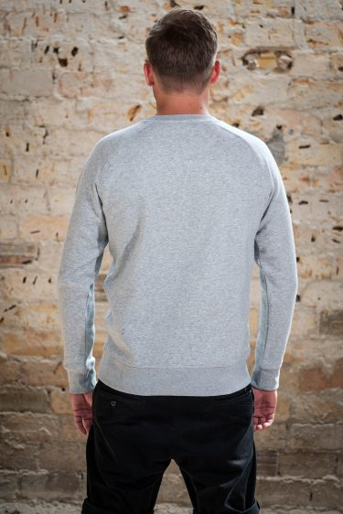 AESTHETIKA Sweatshirt - THE_FOX grey/black back