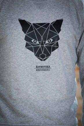 AESTHETIKA Sweatshirt - THE_FOX grey/black detail