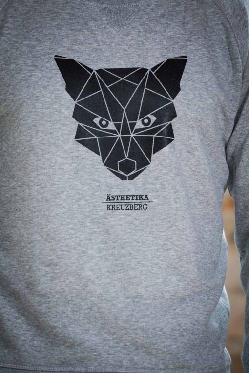 AESTHETIKA Sweatshirt - THE_FOX grey/black detail