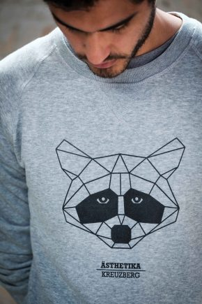 AESTHETIKA_Sweatshirt_THE_RACCOON_grey:black_detail