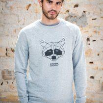 AESTHETIKA_Sweatshirt_THE_RACCOON_grey:black_front