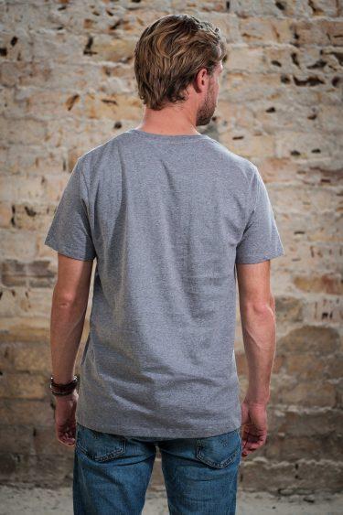 AESTHETIKA T-Shirt - ROBO BEAR grey/black back