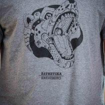 AESTHETIKA T-Shirt - ROBO BEAR grey/black detail