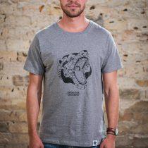 AESTHETIKA T-Shirt - ROBO BEAR grey/black front