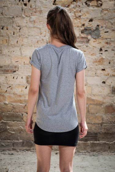 ÄSTHETIKA T-Shirt RollUp - THE FOX grey/black back