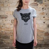 ÄSTHETIKA T-Shirt RollUp - THE FOX grey/black front