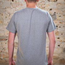 AESTHETIKA T-Shirt - THE FOX grey/black back