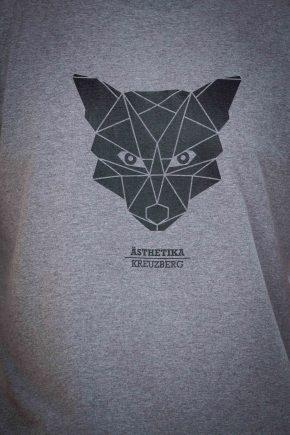 AESTHETIKA T-Shirt - THE FOX grey/black detail