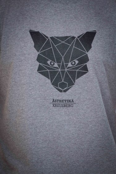 AESTHETIKA T-Shirt - THE FOX grey/black detail