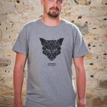 AESTHETIKA T-Shirt - THE FOX grey/black front