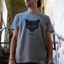 ÄSTHETIKA T-Shirt - THE FOX grey/black mood