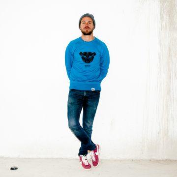 ÄSTHETIKA sweatshirt bear blue black