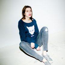 ÄSTHETIKA sweatshirt women fox dark-denim white
