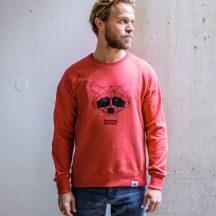 ÄSTHETIKA sweatshirt raccoon red black front