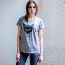 ÄSTHETIKA t-shirt rollup fox grey black front