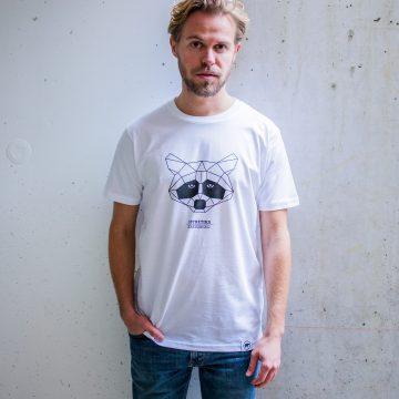 ÄSTHETIKA t-shirt raccoon white black front