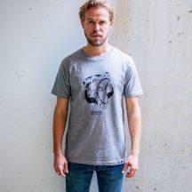 ÄSTHETIKA t-shirt robobear grey black front