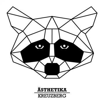 ÄSTHETIKA THE RACCOON print closeup