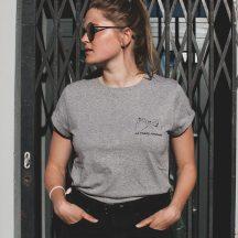 AESTHETIKA T-Shirt Rollup LaForceFeminine grey black