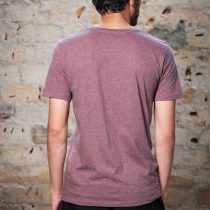 ÄSTETIKA T-Shirt - THE DEER cranberry/black back