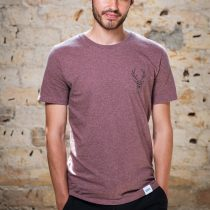 ÄSTETIKA T-Shirt - THE DEER cranberry/black front