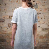 Raglan Dress - LA FORCE FÉMININE grey/black back