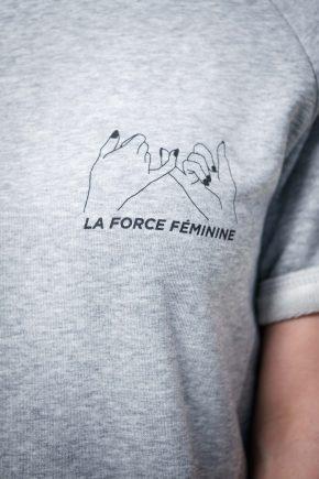 Raglan Dress - LA FORCE FÉMININE grey/black detail