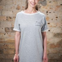 Raglan Dress - LA FORCE FÉMININE grey/black front