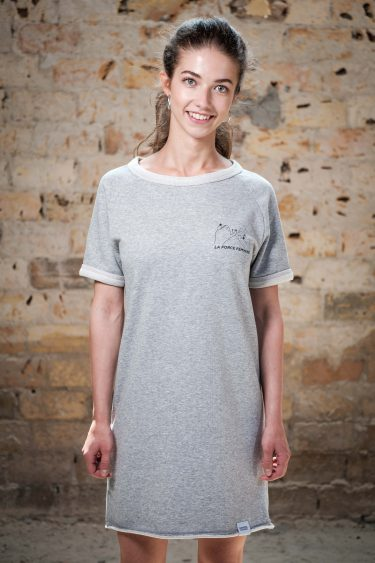 Raglan Dress - LA FORCE FÉMININE grey/black front