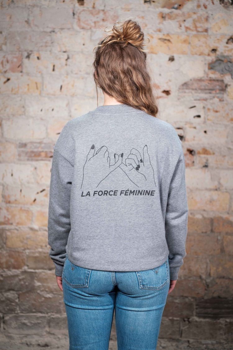 ÄSTHETIKA Sweatshirt Cropped - LA FORCE FÉMININE grey/black back