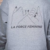 ÄSTHETIKA Sweatshirt Cropped - LA FORCE FÉMININE grey/black detail