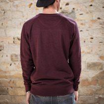 ÄSTHETIKA Sweatshirt - DISOBEY grape red/white back