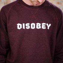ÄSTHETIKA Sweatshirt - DISOBEY grape red/white detail
