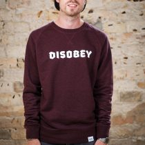 ÄSTHETIKA Sweatshirt - DISOBEY grape red/white front