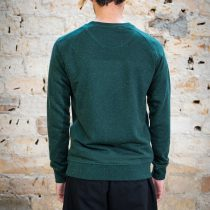 ÄSTHETIKA Sweatshirt - FUTURE scarab green/white back