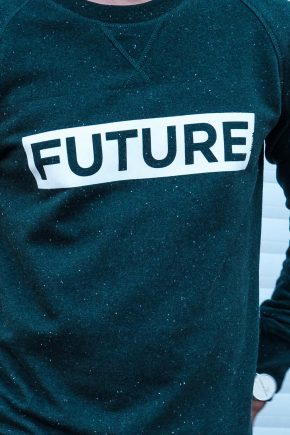 ÄSTHETIKA Sweatshirt - FUTURE scarab green/white detail