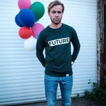 ÄSTHETIKA Sweatshirt - FUTURE scarab green/white mood