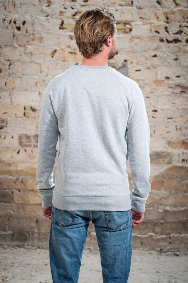 ÄSTHETIKA Sweatshirt -THE DEER grey/black back