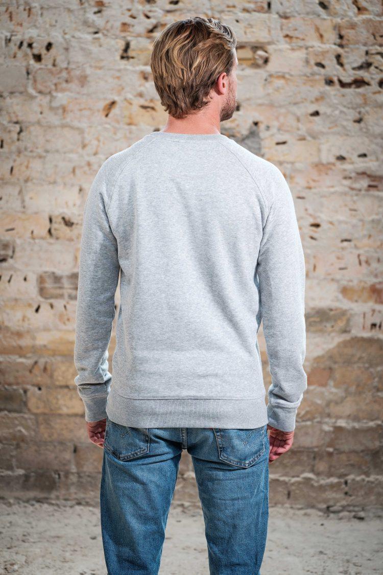 ÄSTHETIKA Sweatshirt -THE DEER grey/black back