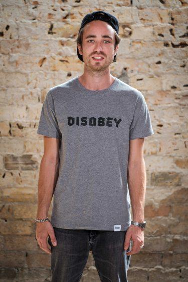 ÄSTHETIKA T-Shirt - DISOBEY grey/black front