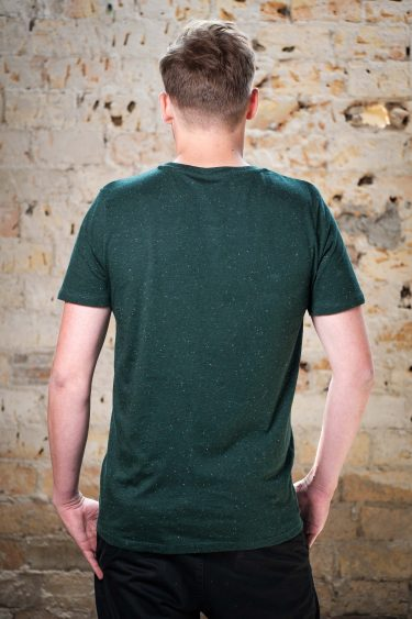 ÄSTHETIKA T-Shirt - DISOBEY scarab green/white back