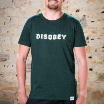 ÄSTHETIKA T-Shirt - DISOBEY scarab green/white front
