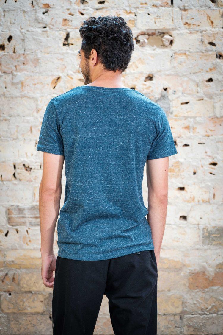 ÄSTHETIKA T-Shirt - FUTURE dark denim/white back