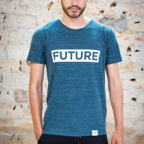 ÄSTHETIKA T-Shirt - FUTURE dark denim/white front