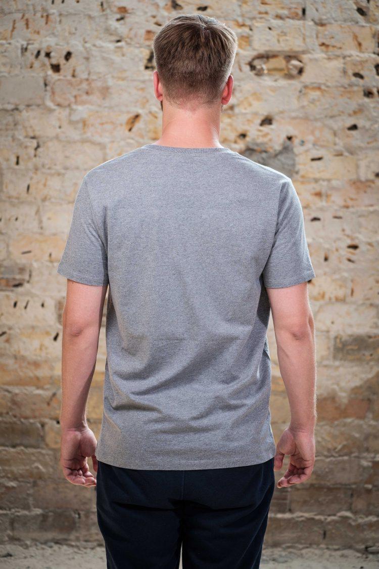 ÄSTHETIKA T-Shirt - FUTURE grey/black back